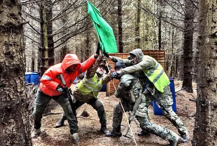 Playing Airsoft CTF