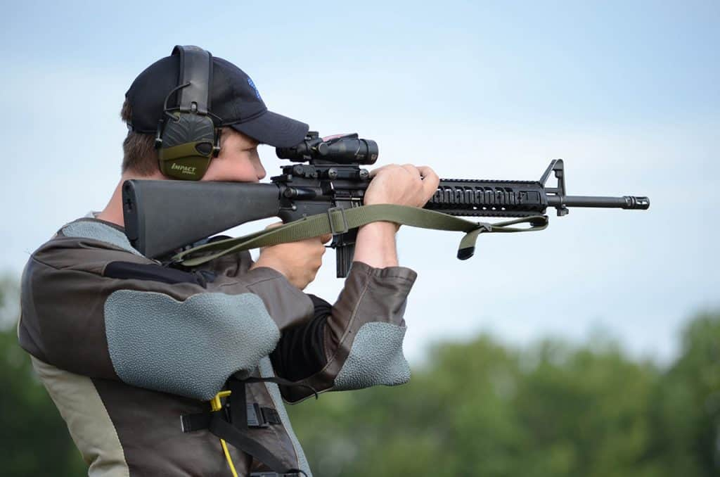 Proper airsoft rifle positioning
